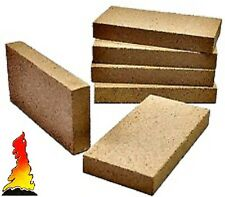 "12 x Vermiculite Villager Fire stove bricks brick firebrick firebricks 9"" x 4.5"""