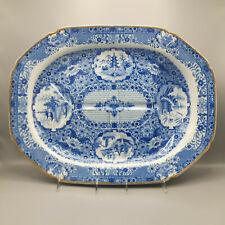 "Very Large 19th C. Spode Staffordshire Transferware Platter – ""Net"" Pattern"
