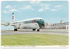 British European Airways Vickers Vangguard at Guernsey Airport PPC Unposted