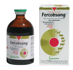Fercobsang 100ml For Cats Dogs Pig Goat Sheep Horse Cattle