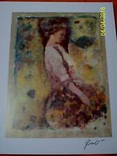 """HUA CHEN """"GATHERING BLOSSOMS"""" Signed Seriolithograph w/ Certif."""