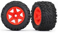 ~NEW~ Traxxas E-Revo VXL Talon EXT Tires on Orange 17mm Rims (2) TRA8672A