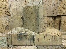 "Genuine Portugal Cork Squares Aged 40+ Years Measure: 1 1/8"" Thick x 2 3/4"" Wide"
