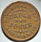 Almont Michigan D W Richardson Civil War Store Card Token MI 035A-2a