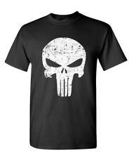 Distressed Punisher Skull mercenary liberty - Cotton Unisex T-Shirt