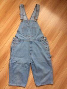 Coole Latz Jeans halblang Latzhose Latzjeans Hose kurz blau Gr. 54 XL XXL TOP