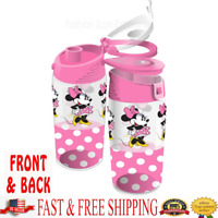 Disney Water Bottle Minnie Dots Flip Top Bottle, Pink Original