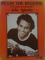 song sheet BEGIN THE BEGUINE Julio Iglesias