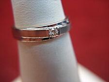 14K WHITE GOLD DIAMOND WEDDING BAND  - PETITE SIZE RING