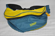 VTG American Camper LUMBAR Fanny Pack WAIST Fannypack YELLOW Teal Double Zip EUC