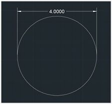 "1pc Acrylic Plastic (plexiglass)  Round  Sheet  - 1/4"" x 4""  Circle  -  Clear"