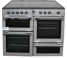 FLAVEL 100 CM Electric Range Cooker MLN10CRS Ceramic Double Oven Silver # 1789