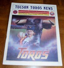 VINTAGE 1985 TUCSON TOROS NEWS - TUCSON TOROS PROGRAM - HOUSTON ASTROS AFFILIATE