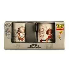 SET of 2 Disney Pixar D23 Toy Story 20th Anniversary Woody & Buzz Lightyear Mugs