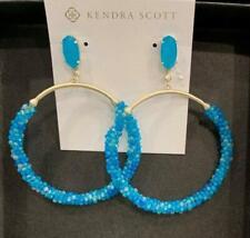 Kendra Scott  Russel Hoop Earrings  Teal Agate