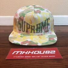 New Supreme Floral 5-Panel Cap Hat Camp All-Over Print Flower White 2018 SS18