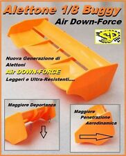 10x (10pcs.) Alettone Wind 1/8 Buggy AIR DOWN-FORCE High-Performance Arancio Fl