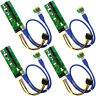 MintCell 4-Pack 4-Pin MOLEX  PCIe PCI-E Express 1X to 16X 60cm USB Riser Adapter