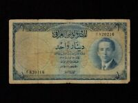 Iraq Kingdom:P-34,1 Dinar,1947 (1953) * King Faisal II * F *