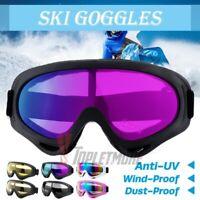 2Pcs Anti-Fog Ski Goggles Snowboard Snow Winter Sports Glare Lens UV400 Glasses