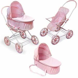 Pink Gingham 3-in-1 Pram/Carrier/Stroller
