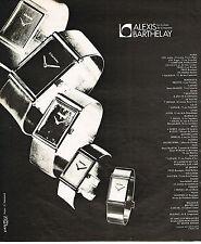 PUBLICITE ADVERTISING 064  1975  ALEXIS BARTHELAY   collection montres de luxe