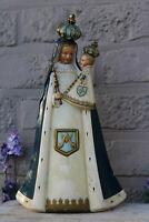 Antique  chalkware madonna  figurine statue religious rare