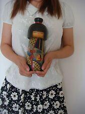 F/S Japanese sosaku kokeshi doll by Kawase Yuji 9 3/4 inches 25 cm