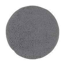 Bad Teppich Badvorlage rund Mikrofaser Ø50 cm grau Badezimmermatte Bettvorleger