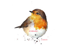Robin Redbreast - Watercolour Limited Edition Print