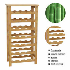 New listing Bamboo Wine Standing Rack Storage 28-Bottle Storage Containers