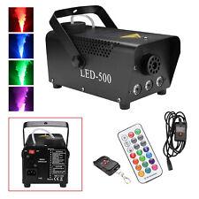 Nebelmaschine 500W LED RGB Fogger für Party Fog Machine Mit Funk Fernbedienung