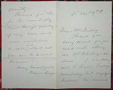 OLIVER HERFORD AUTOGRAPHED / SIGNED 2 Page Letter American Author Artist