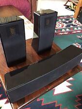Martin Logan Electrostatic Shielded Home Theater Speakers Gloss Black Piano Fini