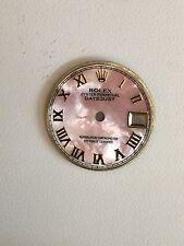 Rolex Ladies Datejust Pink Mop Custom Romans Numbers Dial 2-T