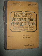 VOCABULAIRE ANALOGIQUE / GALANDY-BALAIGNAC / COURS ELEMENTAIRE / DELAGRAVE