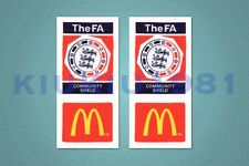 Fa charité shiled McDonald's soccer manches 2002-2004 patch / Badge