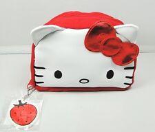 Pochette maquillage Hello Kitty rouge et blanc