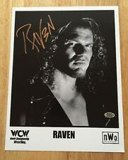 RAVEN Signed Autograph 8.5x11 WCW PROMO Photo WWF WWE TNA ROH  With Hologram COA