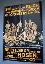 RIESENPOSTER - DTH Die Toten Hosen : Reich & Sexy. Zweiteilig, Doppel DIN A0