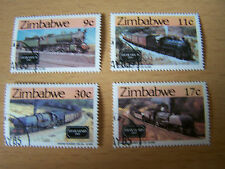 ZIMBABWE. TRAIN/RAILWAYS SET.F/USED