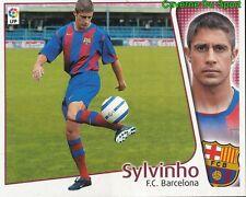SYLVINHO BRAZIL FC.BARCELONA ULTIMOS FICHAJE CROMO STICKER LIGA ESTE 2005 PANINI