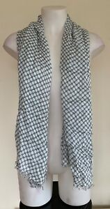 Unbranded Womens Grey with White Polka Dot Lightweight Spring Summer Scarf