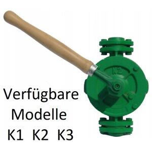 "K1 Flügelpumpe Handpumpe f. Wasser ÖL Diesel Mineralöl Anschluß 3/4"" 17L/min"