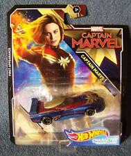 Hot Wheels - Marvel Series - Captain Marvel Character Car - 2017 - MOC
