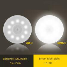 Wireless PIR Motion Sensor LED USB Rechargeable Dimmable Night Light Wall Light