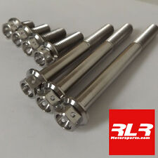 M8 titanium bolts hex head drilled 1.25 pitch M8x15 to M8x90 all sizes