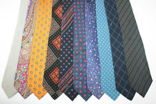 LOT OF 10 YVES SAINT LAURENT  silk ties. E95560