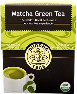 Matcha Green Tea by Buddha Teas, 18 tea bag 1 pack