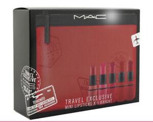 MAC Travel Exclusive Mini Lipsticks Set (5x Mini Lipstick + 1 Bag)